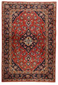 Keshan Teppich  100X146 Echter Orientalischer Handgeknüpfter Dunkelbraun/Rost/Rot (Wolle, Persien/Iran)