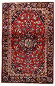 Keshan Teppich  105X147 Echter Orientalischer Handgeknüpfter Dunkelrot/Dunkellila (Wolle, Persien/Iran)