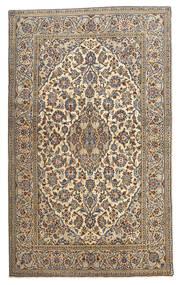 Keshan Teppich 128X210 Echter Orientalischer Handgeknüpfter Beige/Dunkelgrau (Wolle, Persien/Iran)
