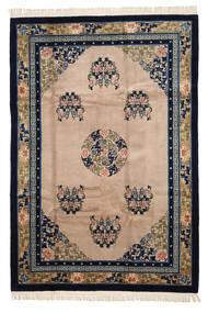 China In Antikem Stil Teppich  198X290 Echter Orientalischer Handgeknüpfter Schwartz/Dunkelgrau (Wolle, China)
