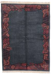 Himalaya Teppich  170X229 Echter Moderner Handgeknüpfter Dunkelgrau/Dunkellila (Wolle, Indien)