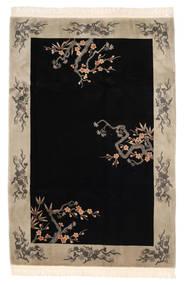 China 90 Line Teppich  183X274 Echter Orientalischer Handgeknüpfter Schwartz/Hellgrau (Wolle, China)
