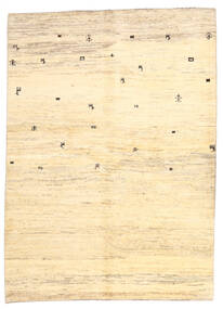 Gabbeh Persisch Teppich  169X236 Echter Moderner Handgeknüpfter Beige/Gelb (Wolle, Persien/Iran)