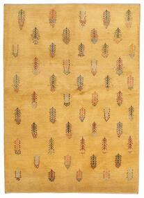 Gabbeh Persisch Teppich 145X203 Echter Moderner Handgeknüpfter Hellbraun (Wolle, Persien/Iran)