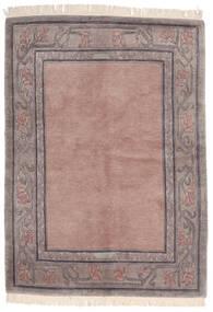 Himalaya Teppich  142X197 Echter Moderner Handgeknüpfter Hellrosa/Hellgrau (Wolle, Indien)
