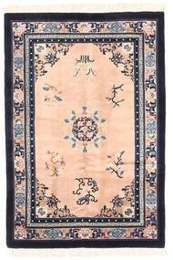 China In Antikem Stil Teppich 122X183 Echter Orientalischer Handgeknüpfter Dunkelgrau/Hellrosa (Wolle, China)