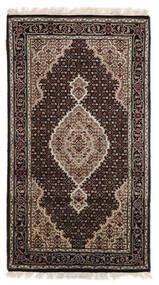 Täbriz Royal Teppich  90X163 Echter Orientalischer Handgeknüpfter Dunkelbraun/Hellgrau ( Indien)