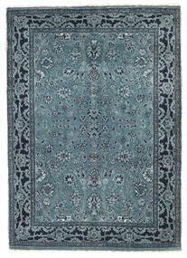 Gabbeh Loribaft Teppich  90X127 Echter Moderner Handgeknüpfter Blau/Dunkelblau/Hellgrau (Wolle, Indien)