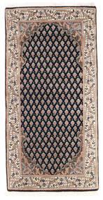 Mir Indisch Teppich 61X123 Echter Orientalischer Handgeknüpfter Dunkelgrau/Braun (Wolle, Indien)