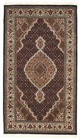 Täbriz Royal Teppich  94X164 Echter Orientalischer Handgeknüpfter Dunkelbraun/Dunkelrot ( Indien)