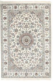 Nain Indisch Teppich  124X184 Echter Orientalischer Handgeknüpfter Hellgrau/Beige ( Indien)