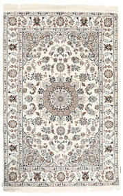 Nain Indisch Teppich  120X182 Echter Orientalischer Handgeknüpfter Beige/Hellgrau ( Indien)