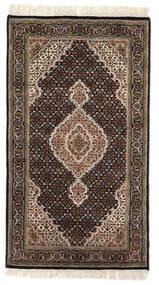 Täbriz Royal Teppich  93X163 Echter Orientalischer Handgeknüpfter Dunkelbraun/Hellgrau ( Indien)