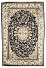 Nain Indisch Teppich  207X308 Echter Orientalischer Handgeknüpfter Dunkelgrau/Hellgrau ( Indien)