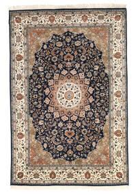 Nain Indisch Teppich  170X242 Echter Orientalischer Handgeknüpfter Braun/Schwartz ( Indien)
