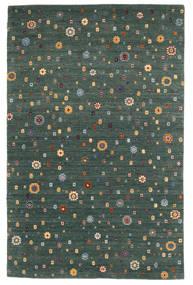 Loribaf Loom Teppich 157X242 Echter Moderner Handgeknüpfter Dunkelgrün/Blau (Wolle, Indien)