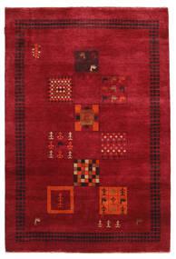 Gabbeh Loribaft Teppich  145X215 Echter Moderner Handgeknüpfter Rot/Dunkelrot (Wolle, Indien)