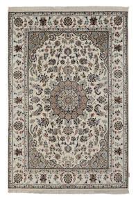 Nain Indisch Teppich  172X250 Echter Orientalischer Handgeknüpfter Dunkelgrau/Beige ( Indien)