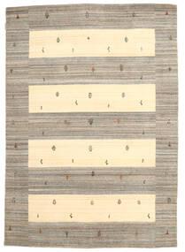 Loribaf Loom Teppich  168X239 Echter Moderner Handgeknüpfter Hellgrau/Gelb (Wolle, Indien)