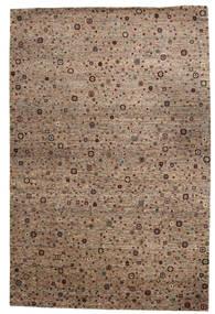 Gabbeh Loribaft Teppich  199X301 Echter Moderner Handgeknüpfter Braun/Hellgrau (Wolle, Indien)