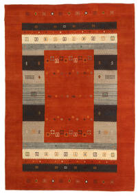 Loribaf Loom Teppich  163X234 Echter Moderner Handgeknüpfter Rost/Rot/Dunkelbraun (Wolle, Indien)