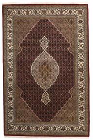 Täbriz Royal Teppich 198X304 Echter Orientalischer Handgeknüpfter Dunkelrot/Braun ( Indien)