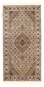 Täbriz Royal Teppich  72X142 Echter Orientalischer Handgeknüpfter Dunkelbraun/Beige ( Indien)