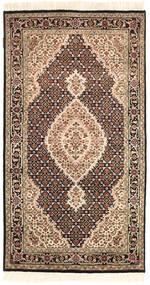 Täbriz Royal Teppich  92X164 Echter Orientalischer Handgeknüpfter Braun/Beige ( Indien)