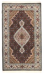Täbriz Royal Teppich  88X152 Echter Orientalischer Handgeknüpfter Dunkelgrau/Dunkelbraun ( Indien)