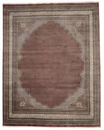 Mir Indisch Teppich  307X386 Echter Orientalischer Handgeknüpfter Dunkelbraun/Dunkelrot Großer (Wolle, Indien)