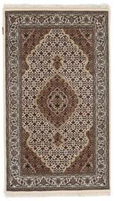 Täbriz Royal Teppich 91X156 Echter Orientalischer Handgeknüpfter Dunkelbraun/Hellgrau ( Indien)