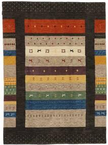 Loribaf Loom Teppich  174X240 Echter Moderner Handgeknüpfter Schwartz/Hellbraun (Wolle, Indien)
