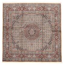 Moud Teppich  203X206 Echter Orientalischer Handgeknüpfter Quadratisch (Wolle/Seide, Persien/Iran)