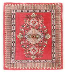 Kashmar Teppich  75X84 Echter Orientalischer Handgeknüpfter Dunkelrot/Rot (Wolle, Persien/Iran)