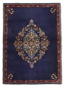 Keshan Teppich  68X96 Echter Orientalischer Handgeknüpfter Dunkellila/Dunkelbraun (Wolle, Persien/Iran)