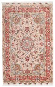 Täbriz 60 Raj Seidenkette Teppich 153X240 Echter Orientalischer Handgeknüpfter Dunkelrot/Dunkelbraun (Wolle/Seide, Persien/Iran)