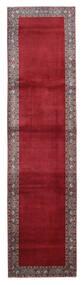 Keshan Teppich  95X379 Echter Orientalischer Handgeknüpfter Läufer Dunkelrot/Rot (Wolle, Persien/Iran)