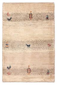 Gabbeh Persisch Teppich  58X88 Echter Moderner Handgeknüpfter Beige/Hellrosa (Wolle, Persien/Iran)