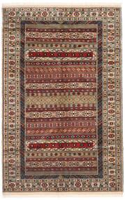 Turkaman Teppich 162X246 Echter Orientalischer Handgeknüpfter Dunkelbraun/Hellbraun (Wolle, Persien/Iran)