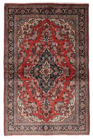 Ghom Kork/Seide Teppich  139X212 Echter Orientalischer Handgeknüpfter Dunkelrot/Schwartz (Wolle/Seide, Persien/Iran)