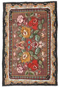 Kelim Rosen Moldavia Teppich 134X204 Echter Orientalischer Handgewebter Dunkelrot/Schwartz (Wolle, Moldawien)