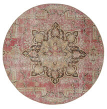 Vintage Heritage Teppich  Ø 170 Echter Moderner Handgeknüpfter Rund Braun/Hellgrau (Wolle, Persien/Iran)
