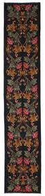 Kelim Rosen Moldavia Teppich 82X420 Echter Orientalischer Handgewebter Läufer Schwartz/Dunkelrot (Wolle, Moldawien)