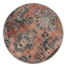 Vintage Heritage Teppich Ø 100 Echter Moderner Handgeknüpfter Rund Hellbraun/Schwartz (Wolle, Persien/Iran)