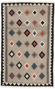 Kelim Teppich 102X165 Echter Orientalischer Handgewebter Hellgrau/Dunkelgrau (Wolle, Persien/Iran)