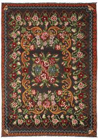 Kelim Rosen Moldavia Teppich 191X282 Echter Orientalischer Handgewebter Schwartz/Dunkelgrün (Wolle, Moldawien)