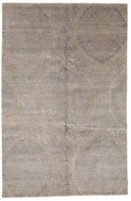 Damask Indisch Teppich  169X260 Echter Moderner Handgeknüpfter Hellgrau (Wolle/Bambus-Seide, Indien)