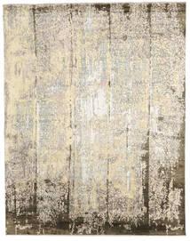 Damask Indisch Teppich 239X305 Echter Moderner Handgeknüpfter Beige/Hellgrau (Wolle/Bambus-Seide, Indien)
