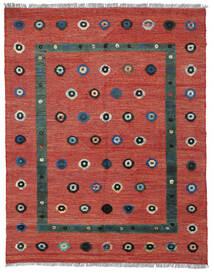 Kelim Nimbaft Teppich  152X192 Echter Moderner Handgewebter Dunkelrot/Rost/Rot (Wolle, Afghanistan)