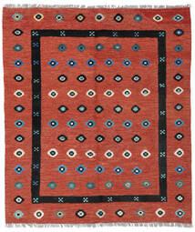 Kelim Nimbaft Teppich  160X186 Echter Moderner Handgewebter Dunkelrot/Rost/Rot (Wolle, Afghanistan)